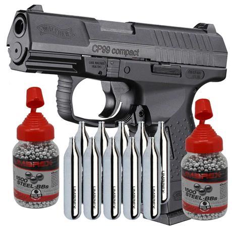 Pistola CO2 Walther CP99 Compact Blow Back Umarex 4.5 + CO2 e Esferas
