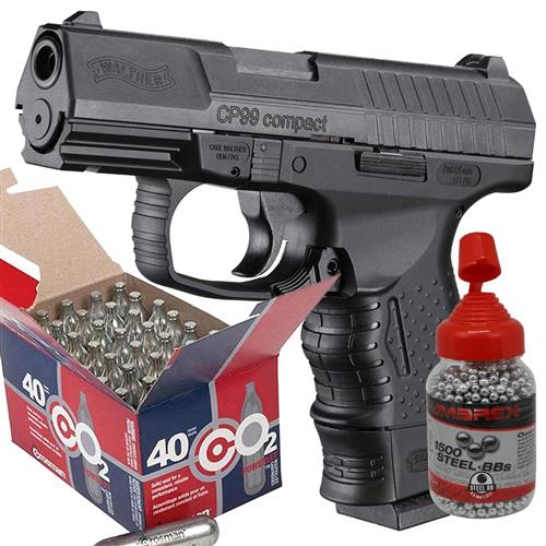 Pistola CO2 Walther CP99 Compact (Blow Back) + 40CO2 e 1500