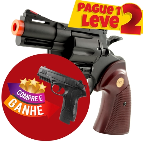 "Revolver Airsoft Spring Python 357 2,5"" 6mm UHC + Pistola PX..."
