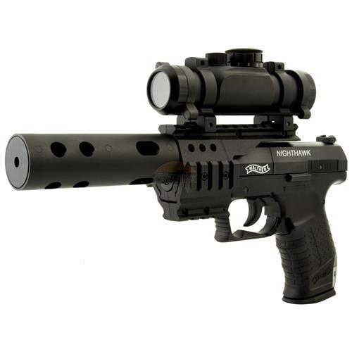 Pistola de Pressão CO2 Walther CP99 NIGHTHAWK Combo 4.5 + Supressor