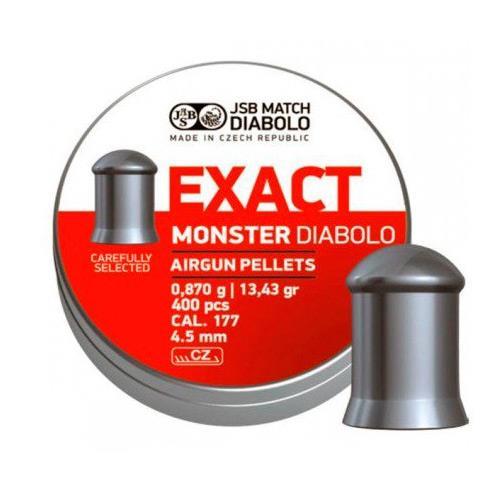 Chumbinho JSB Exact Monster Diabolo - Cal 4.5mm (400UN)