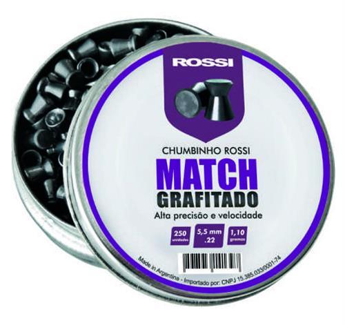 Chumbinho Rossi Match Grafitado - Cal 5.5mm (250UN)