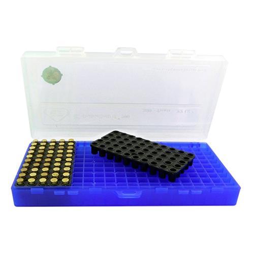 Caixa para Armazenamento de Municao (200 un) - Cal .380 (Azul e Branco)