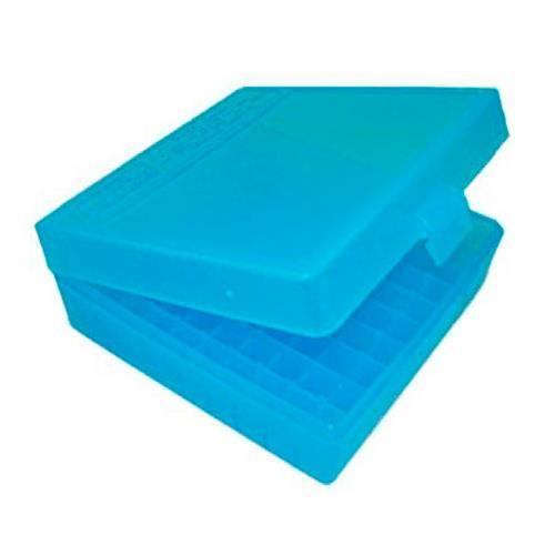 Caixa para Armazenamento de Municao (100 un) - Cal .40 Ee .45 (Azul Claro)