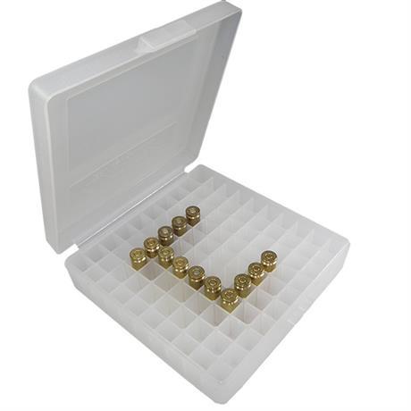 Caixa para Municao de Pistola .40 e .45 (100Un) Branca