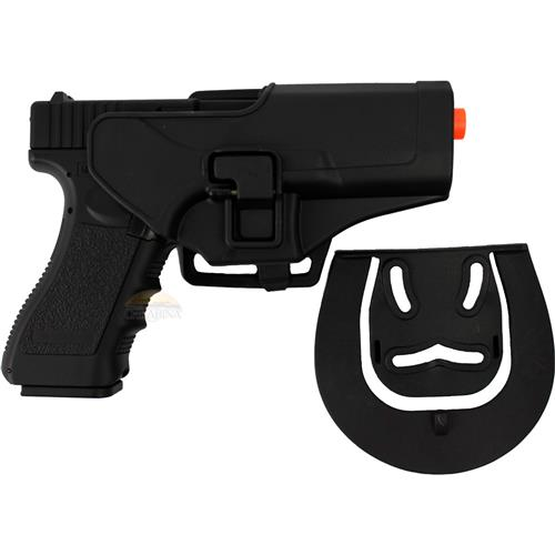 Pistola Airsoft Glock Eletrica G18C - CYMA + Coldre Glock