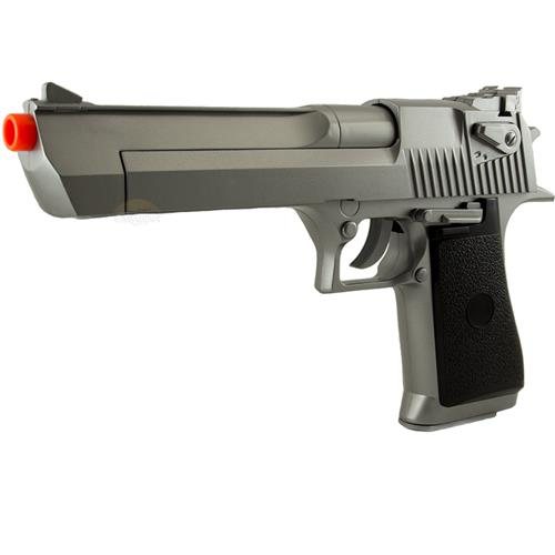 Pistola Airsoft Desert Eagle .50 Imitacao da Inox - 690 Gramas