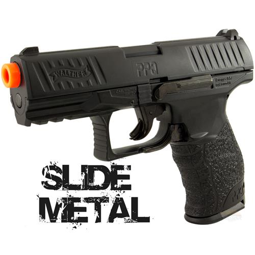 Pistola Airsoft Walther PPQ BLACK SLIDE METAL Umarex