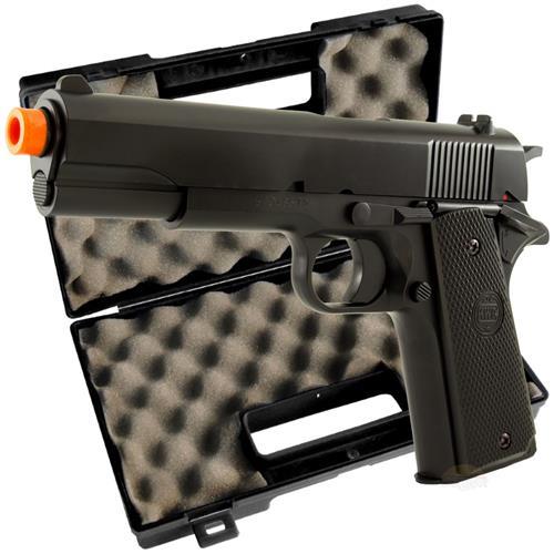 Pistola Airsoft Spring KWC 1911 + Maleta Pistol Case