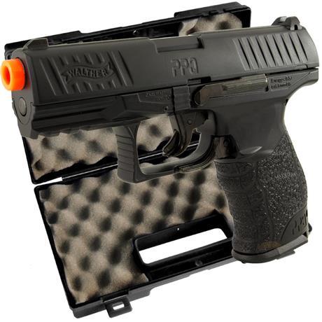 Pistola Airsoft Walther PPQ BLACK (FULL METAL) 720 GRAMAS + Maleta