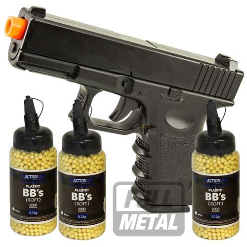 Pistola Airsoft GLOCK Full Metal + 6.000 BBS