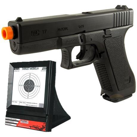 Pistola de Airsoft GLOCK G7 HP KWC + Alvo Coletor
