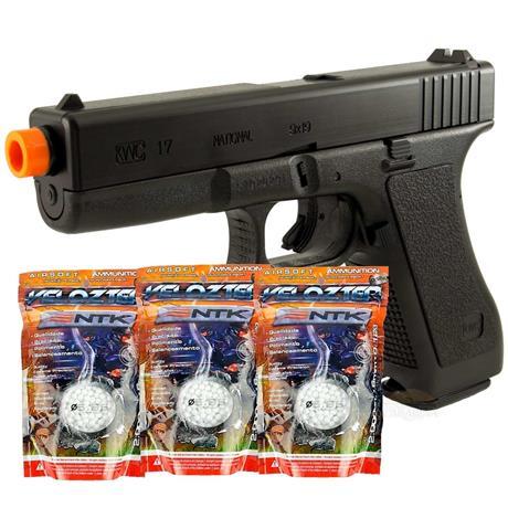 Pistola de Airsoft Glock G7 HP Calibre 6mm (KWC) + 6.000 bbs Velozter