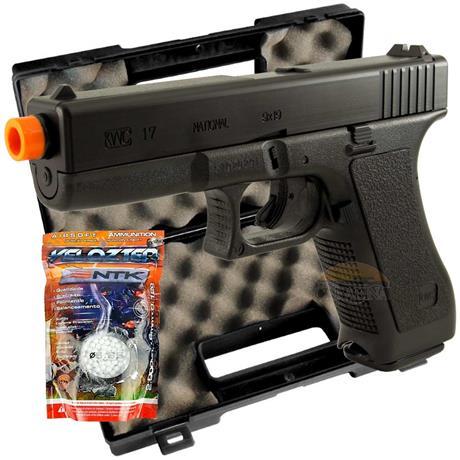 Pistola Airsoft Glock G7 HP 6mm (KWC) + Maleta e 2.000 BBS Velozter
