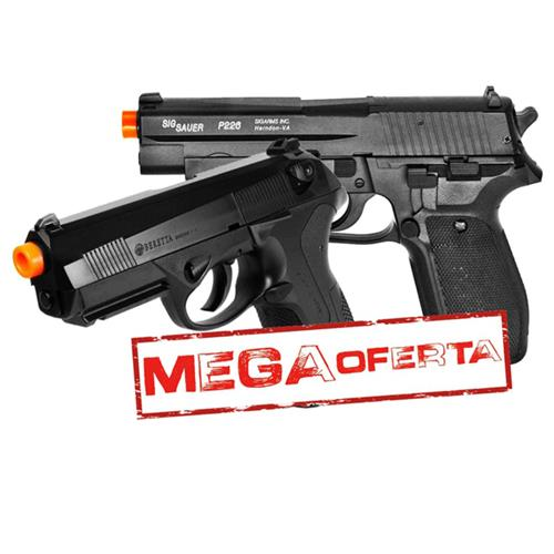 Pistola Airsoft Beretta PX4 Storm + Pistola de Airsoft P226 SIG SAUER Cybergun