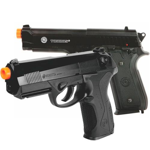 Pistola Airsoft Beretta PX4 Storm (Double Action) + Pistola Airsoft Taurus PT92 (Slide Metal)