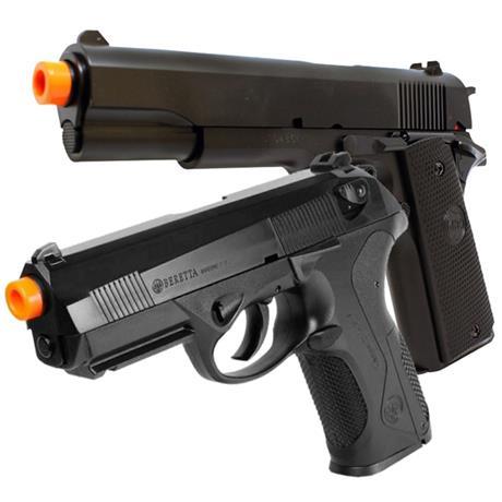 Pistola Airsoft Beretta PX4 Storm + Pistola Spring Airsoft 1911 KWC