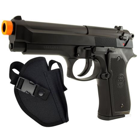 Pistola de Airsoft Beretta 92 6mm KWC + Coldre Tatico