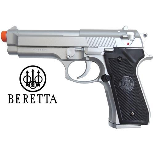 Pistola Airsoft Beretta 92 Estilo Cromada 6mm (KWC)