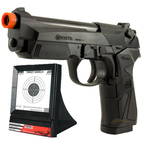 Pistola Airsoft Beretta 90 TWO (Metal Barrel) - Cal 6mm + Alvo Swiss Arms