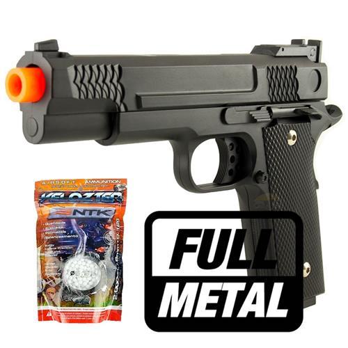 Pistola Airsoft 1911 Black (FULL METAL) + 2000 BBS Velozter