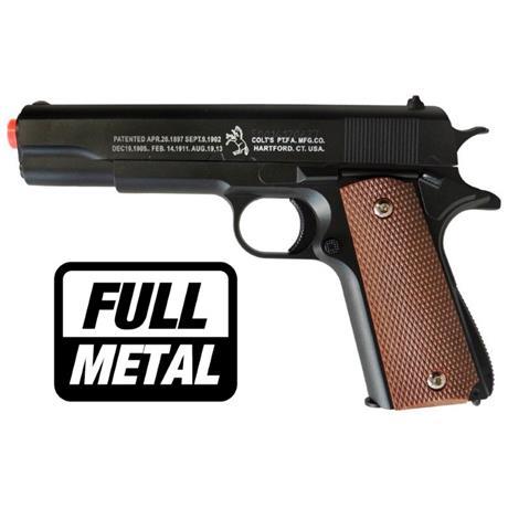 Pistola Airsoft COLT 1911 (FULL METAL) - Cal 6mm (CYBERGUN)