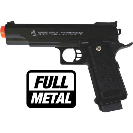 Pistola Airsoft COLT 1911 Rail Concept (FULL METAL) - Cal 6mm (CYBERGUN)
