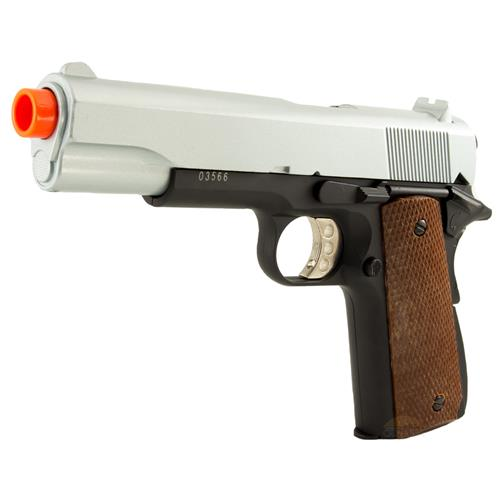 Pistola Airsoft 1911 A-2 Silver/Black 6mm (FULL METAL) 725g