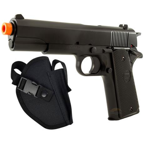 Pistola Airsoft 1911 (KWC) + Coldre Tático
