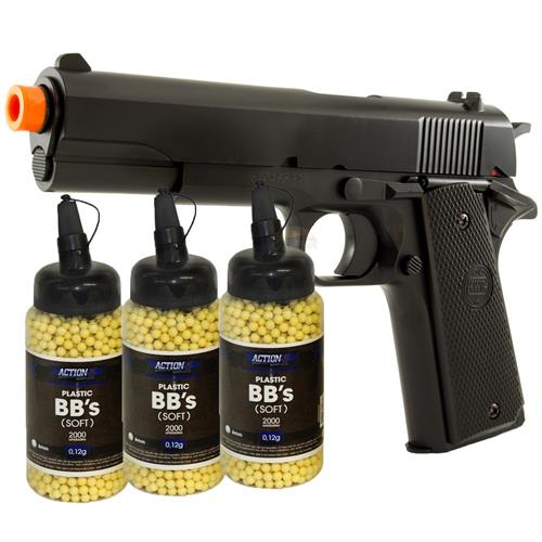 Pistola 1911 Airsoft 6mm KWC + 6000 BBS BB KING