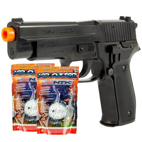 Pistola Airsoft P226 SIG SAUER Cybergun 6mm + 4000 BBS Velozter