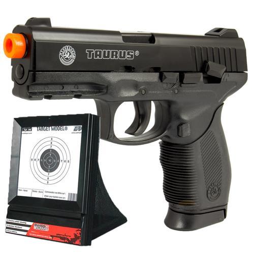Pistola Airsoft 24/7 Taurus com 02 Magazines e Alvo Swiss Arms