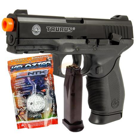 Pistola de Airsoft Taurus PT24/7 Cybergun 02 Magazines + 2000 BBS Velozter