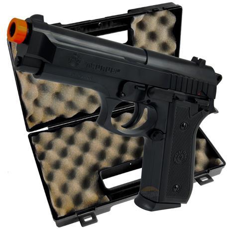 Pistola Airsoft Taurus PT92 + Maleta Pistol Case Rossi