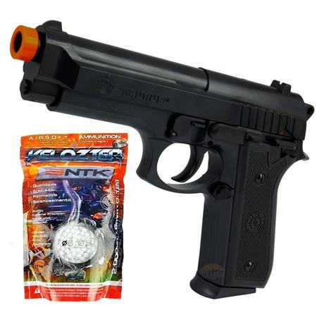 Pistola de Airsoft PT92 Cybergun + 2.000 BBS Velozter 0.12g