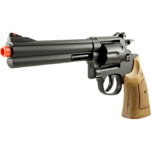 """Revolver Airsoft  357 MAGNUM 6"""" (Cabo Imitando Madeira)"""