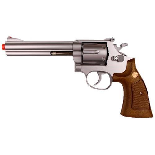 """Revolver Airsoft Spring Magnum 357 6"""" Prata"""