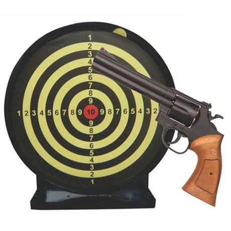 """Revolver de Airsoft 357 Magnum 6"""" e Alvo Colante com Coletor"""