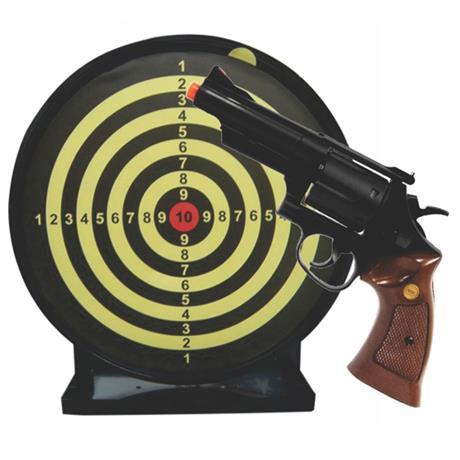"Revolver Airsoft Spring M29 4"" Black 6mm + Alvo Colante"