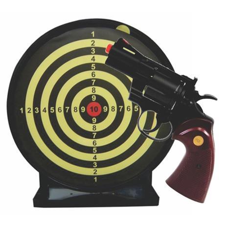 """Revolver Airsoft Spring Python 357 2,5"""" 6mm + Alvo Colante com Coletor"""