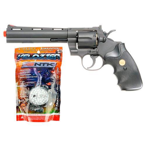 Airsoft Revolver Spring Magnum 357 6 Polegadas + BBS 0.12g 2.000un