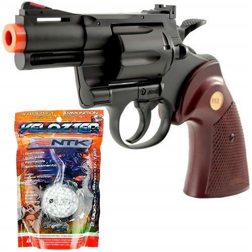 "Airsoft Revolver Spring Python 357 2,5"" + BBS 0.12g 2.000un Velozter Nautika"
