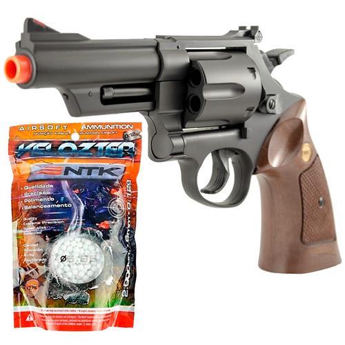 """Airsoft Revolver M29 4"""" + 2.000 bbs Velozter 0.12g"""