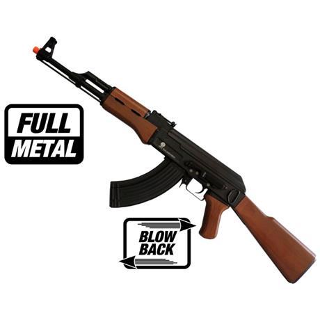 Rifle Airsoft AK47 Eletrico (Full Metal) (Blow Back) - Cal 6mm (G&G)