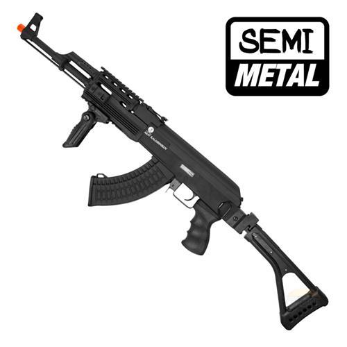 Rifle Airsoft AK47 Tatico (Eletrico) Serie Elite - Fibra Nylon + Metal (Magazine Extra 550BBS) + Ban