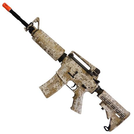 Rifle Airsoft M4A1 Navy Seals DD Eletrico (Camuflado) (Full Metal) 6mm - King Arms