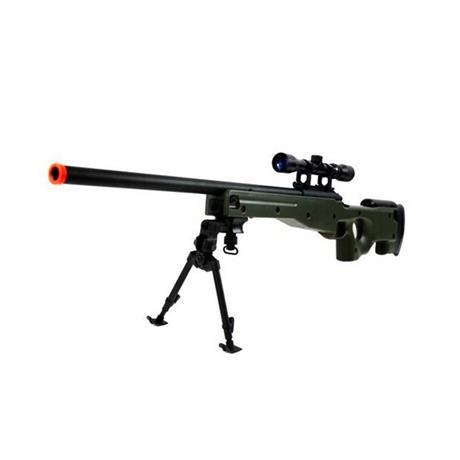 Fuzil Sniper de Airsoft L96 e Bipé (Preto) 6mm - AGM