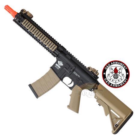 Rifle Airsoft M4A1 CM18 MOD1 G&G Preto e Tan
