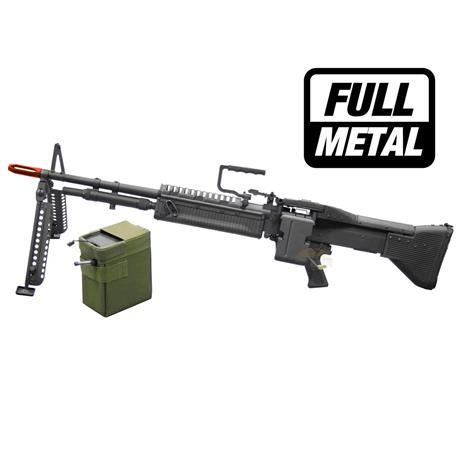 Metrabalhadora Airsoft M60 Elétrico (FULL METAL) - Cal 6mm - A&K