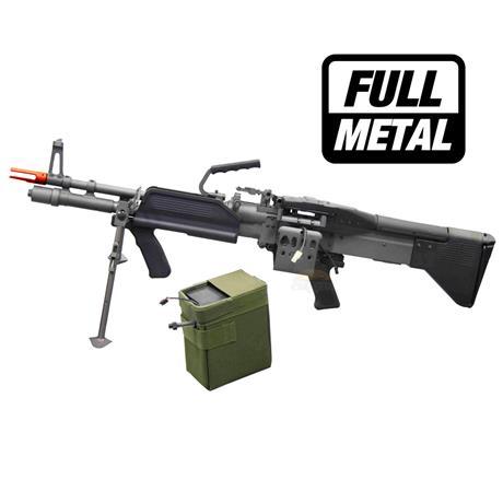 Metralhadora Airsoft MK43 Elétrico (FULL METAL) - Cal 6mm - A&K